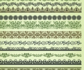 Set of Calligraphic vintage Borders and label vector 02