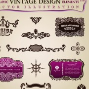 Link toSet of calligraphic vintage borders and label vector 06