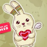 Link toFunny cartoon bunny vector 01