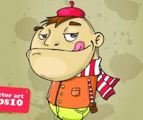 Funny Cartoon characters vector 02