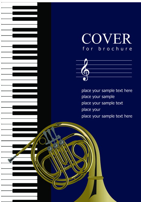Music Brochure Cover Vector Background   Vector Background Free