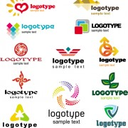 Creative logotype design elements vector