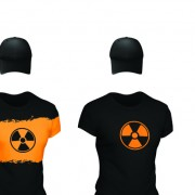 Link toSet of t-shirts and baseball caps elements vector 01