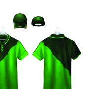 Link toSet of t-shirts and baseball caps elements vector 02