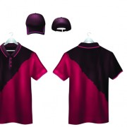 Link toSet of t-shirts and baseball caps elements vector 05