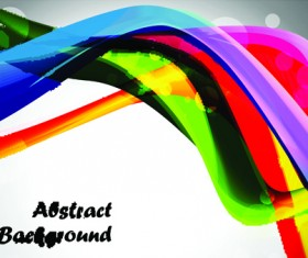 Elements of Abstract Colorful wave vector background 02