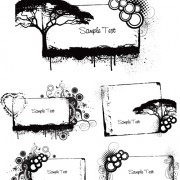 Link toElements of grunge floral vector set