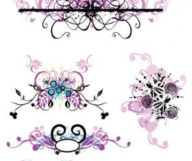 Elements of Violet Floral vector