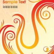 Link toSet of abstract fire vector background 03