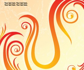Set of Abstract Fire vector background 03