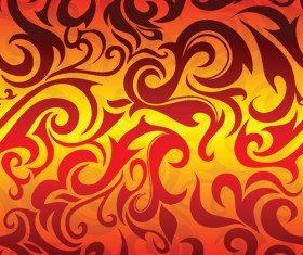 Set of Abstract Fire vector background 07