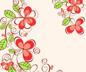 Set of Floral patterns elements vector 01