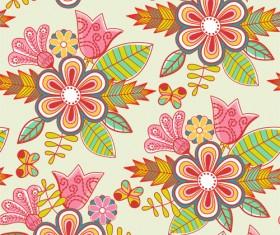 Set of Floral patterns elements vector 02