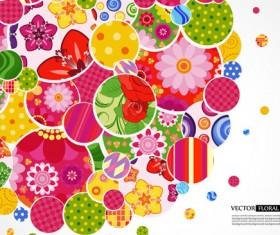 Set of Floral patterns elements vector 03