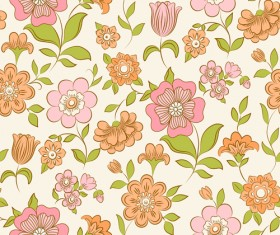 Set of Floral patterns elements vector 05