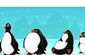 Set of funny animals vector 01 (Penguin)