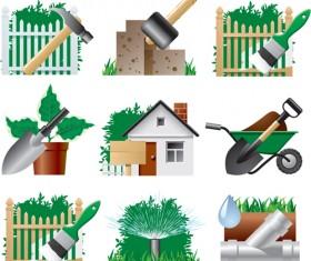 Garden Tools Symbols vector