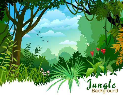 Green of Nature elements vector 04