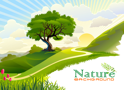 Green of Nature elements vector 01