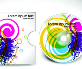 Abstract CD cover vector background 01