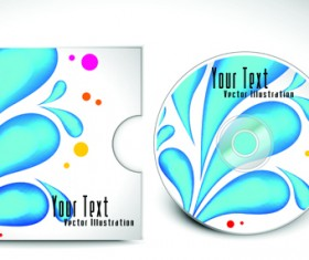 Abstract CD cover vector background 02