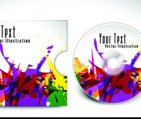 Abstract CD cover vector background 04