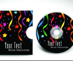 Abstract CD cover vector background 05