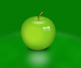 Vivid Green apple PSD