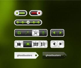 Creative Player buttons psd