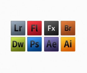 Set of adobe Psd icons