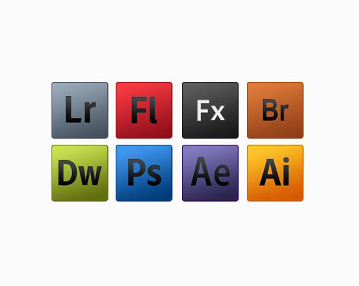 Set of adobe Psd icons