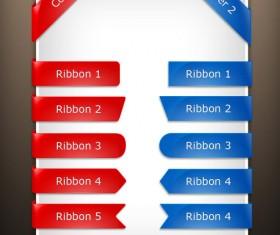 Corner Buttons design elements psd