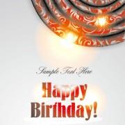 Link toOrnate happy birthday card background vector