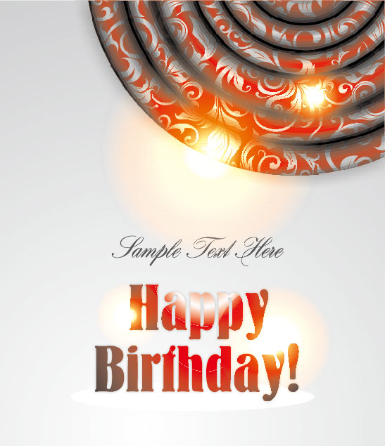 Ornate Happy Birthday Card Background Vector Free Download