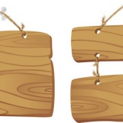 Link toSet of wooden tags elements vector 03