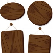 Link toSet of wooden tags elements vector 05