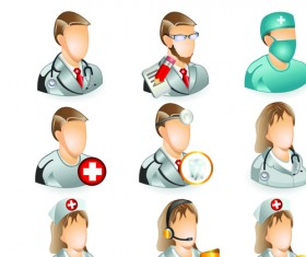 Set of Medicine elements icons vector 01