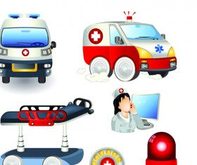 Set of Medicine elements icons vector 02