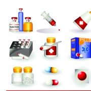 Link toSet of medicine elements icons vector 05