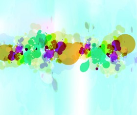 abstract Colorful spots vector background 02