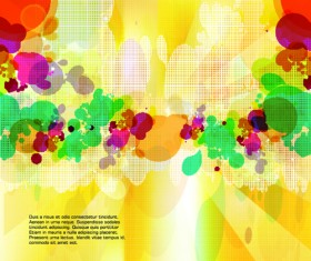 abstract Colorful spots vector background 03