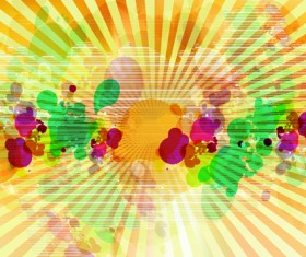 abstract Colorful spots vector background 04