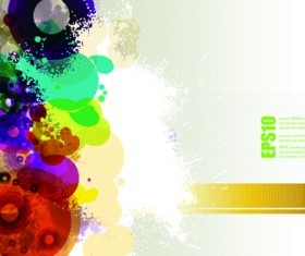 abstract Colorful spots vector background 05