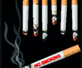 Set of No smoking design elements vector 01