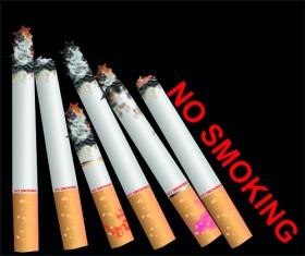 Set of No smoking design elements vector 02