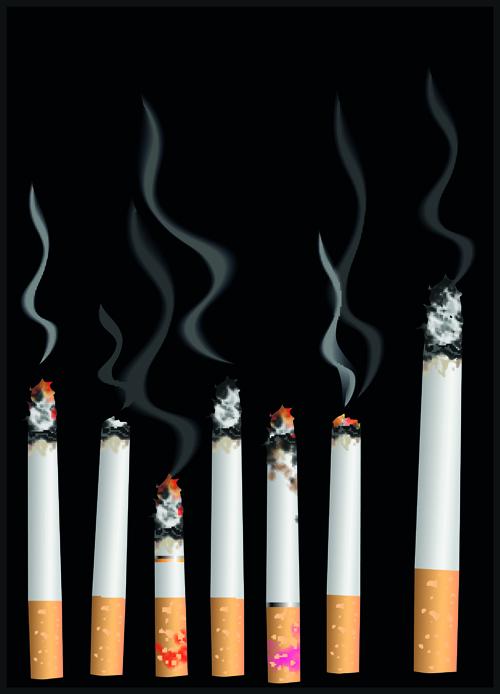set of no smoking design elements vector 03