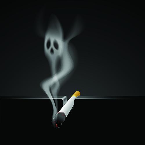 Set of No smoking design elements vector 05
