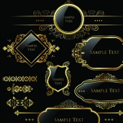 Link toSet of royal gold banner and luxury label vector 03