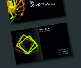 Set of Elegant Business Cards Vector 03