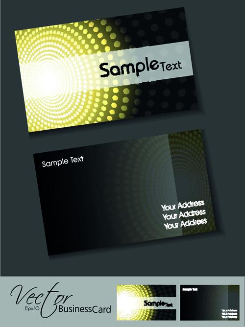 Set of Elegant Business Cards Vector 04